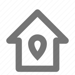 home, house, pin icon