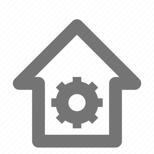 building, configuration, estate, gear, home, house, property, settings icon