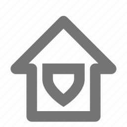 building, estate, home, house, property, safe, security, shield icon