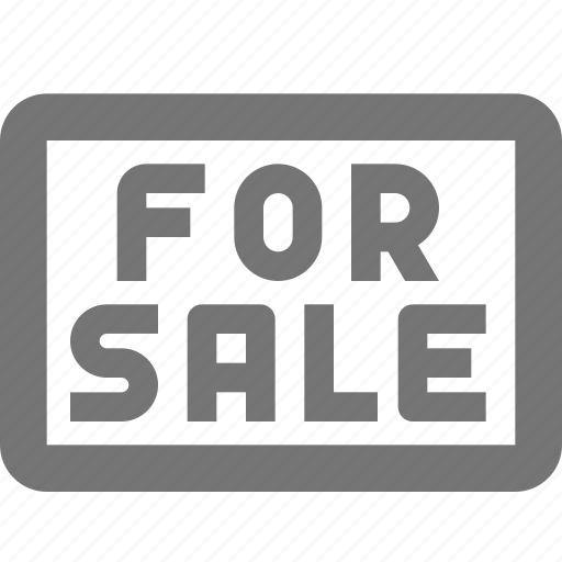 real estate, sale, sign icon