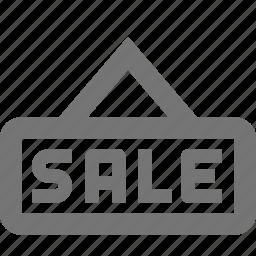 real estate, sale, sign icon