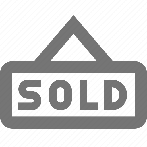 real estate, sign, sold icon