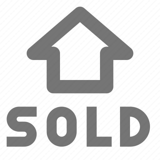 building, home, house, property, real estate, sell, sold icon