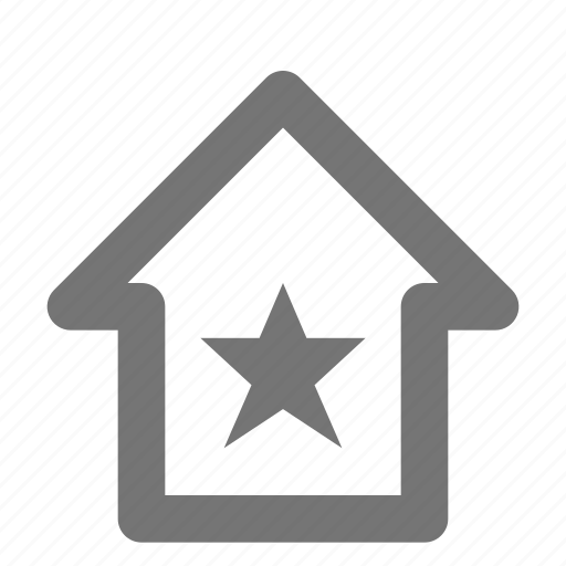 building, favorite, home, house, property, real estate, star icon