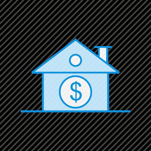 Dollar, estate, home, house, property, real estate icon - Download on Iconfinder