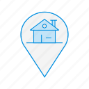 home, house, location, property, real estate icon