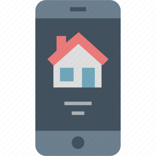 choose, mobile, online, property icon