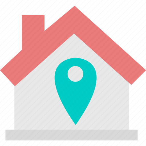 house, location, pin, property icon