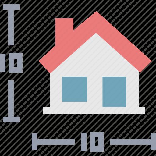 house, measurement, size icon