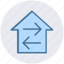 direction, directions, home, home directions, navigation icon