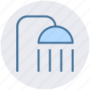 bathroom, drizzle, head, shower, wash, water icon