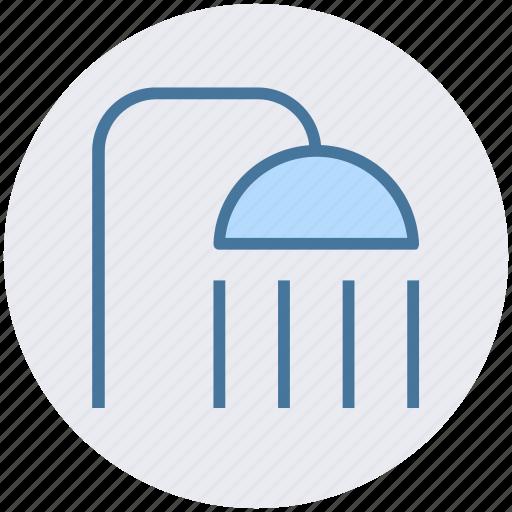 bathroom, drizzle, head, shower, wash, water icon