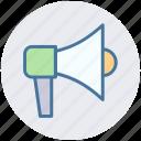announcement, board cast, communication, loud, megaphone, speaker, speech icon
