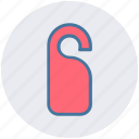 disturb, door, hanger, not, privacy, private, sign icon