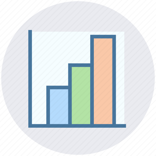 bar, chart, graph, growth, state icon