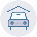 car, car garage, car porch, garage, porch, transport, vehicle icon