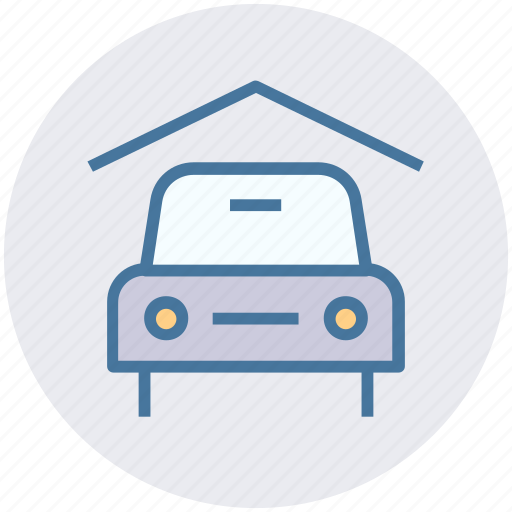 car, car garage, car porch, garage, porch, transport, vehicle icon