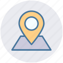 gps, location, map, marker, pin, sticky, world