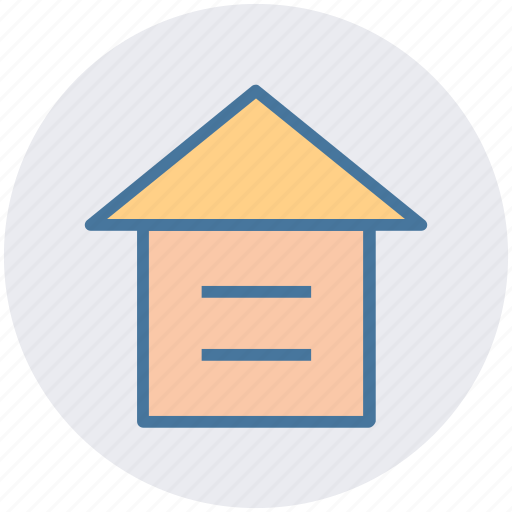 building, garage, garbage, home, home position, house, property icon