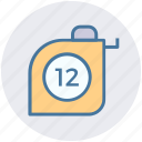 measuring, scale, geometry, ruler, equipment, measure icon
