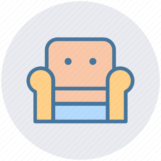 armchair, chair, couch, furniture, interior, seat, sofa icon