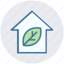 eco home, ecology, house, leaf, nature, plant, smart home icon