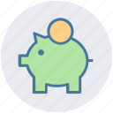 banking, dollar, dollar saving, money, piggy, piggy bank, savings icon