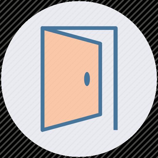 Door, enter, entrance, exit, join, open, open door icon - Download on Iconfinder