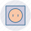 plug, power, power switch, supply icon