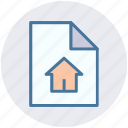 business, documents, file, format, home, house, paper icon