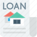 banking, loan, loan agreement, loan application, loan paper icon
