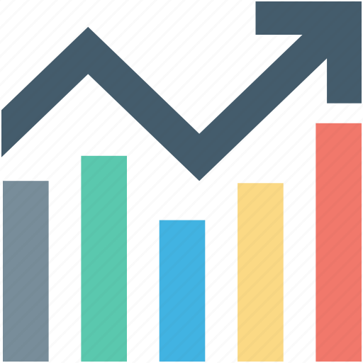 bar graph, business chart, growth chart, infographics, progress chart icon