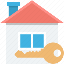 house insurance, house security, key, locked house, real estate icon