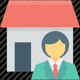 house owner, man, real estate, realtor, renter icon