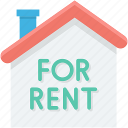 commercial sign, for rent, house for rent, real estate, rental icon