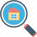 house search, magnifier, magnifying glass, property search, real estate
