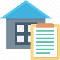 estate agreement, house contract, property, property contract, property papers icon