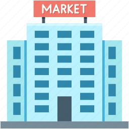 bank, building, market, real estate, stock exchange icon