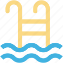 pool stairs, pool steps, summertime, swimming, swimming pool icon