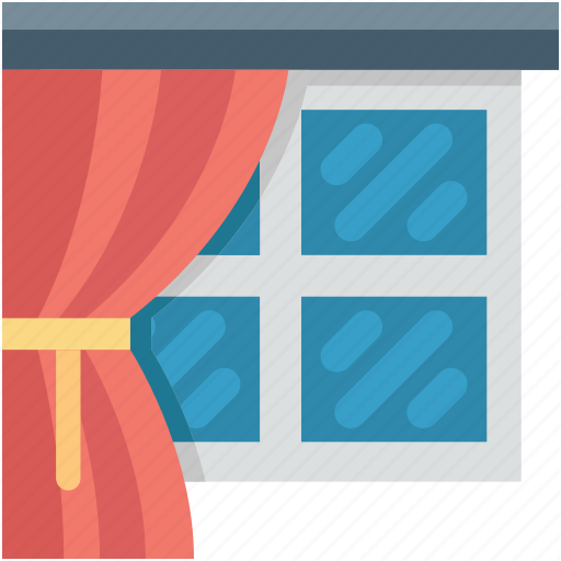 apartment window, home window, living room, window, window frame icon