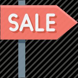 guidepost, sale, sale sign, sale signpost, signpost icon