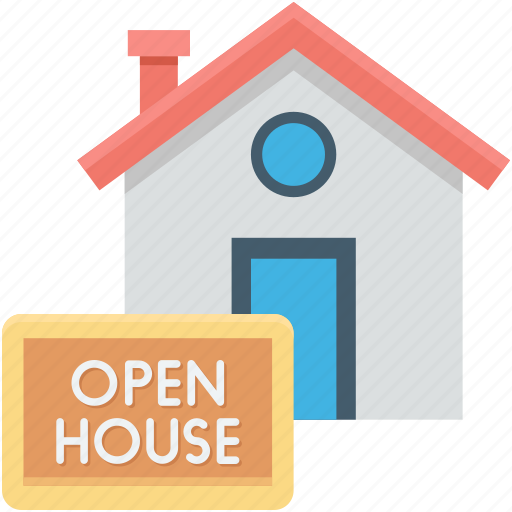 auction, house, online property, open house, property sale icon