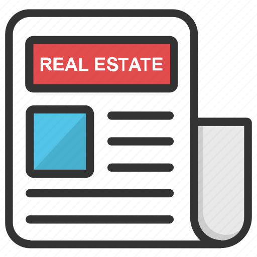 property newspaper, real estate classified, real estate classified ad, real estate magazine, real estate news icon