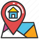 home address, home location, house gps, house position, residential place icon