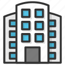 apartments, city building, city skyline, office block, skyscraper icon