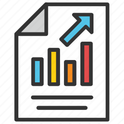 analysis report, analytical report, business report, graph report, statistics icon