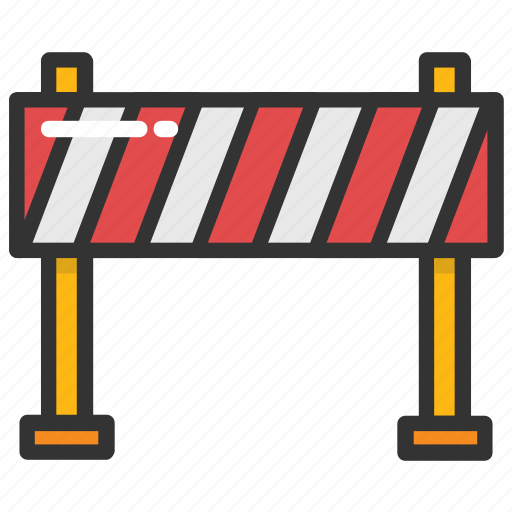 barrier, construction barrier, road barrier, traffic barrier, under construction barrier icon