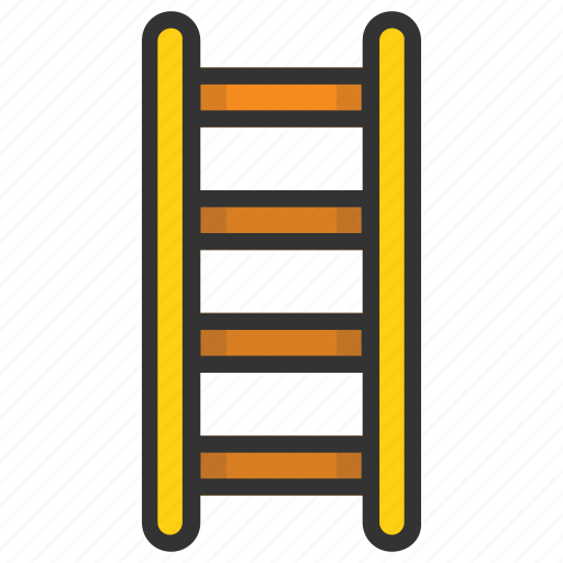 ladder, railing stair, staircase, stairs, steps ladders icon