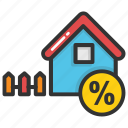 allotment, home percentage rate, mortgage percentage, property discount, property tax icon