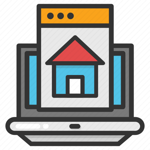 home screen, online estate, online property, online real estate, real estate icon